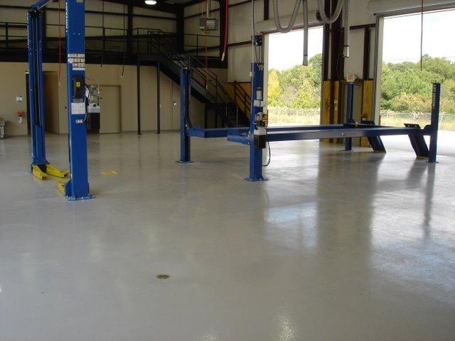 Conyers Maintenance Shop Epoxy Floor