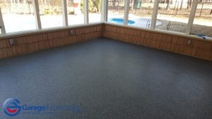 Epoxy flake patio Peachtree city