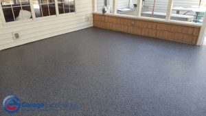 Peachtree City epoxy flake patio