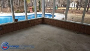 Peachtree City epoxy patio